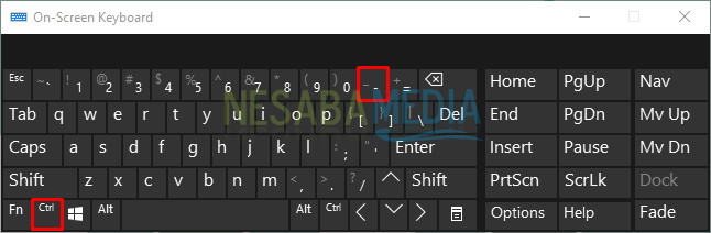 how to minimize the appearance of the computer screen with an on-screen keyboard