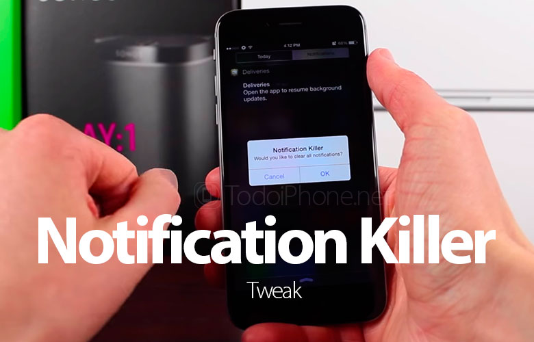 Notification Killer, the tweak to erase all iPhone notifications with a touch 2
