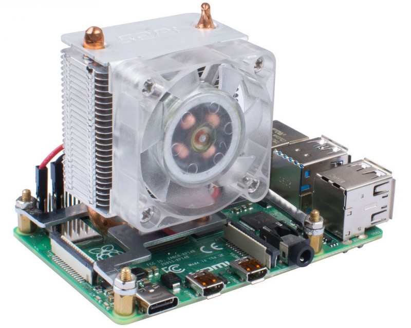 This heatsink promises a 40 ° drop in the Raspberry Pi 4 1