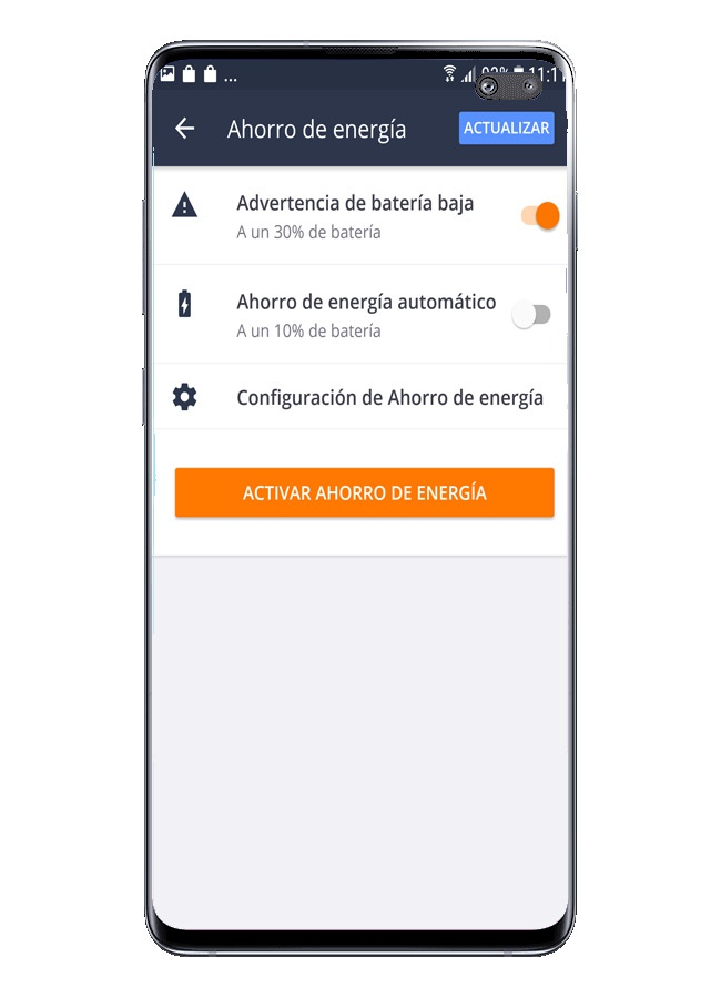 Usage options in Avast Free Mobile Security
