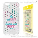Funnytech Silicone Case for Samsung Galaxy A40 (Flexible Silicone Gel, Exclusive Design) Phrase I will not be Vers. Transparent