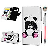 Vogu'SaNa A40 - Faux Leather Case for Samsung Galaxy A40, with Cover, Lectern function, Girl design