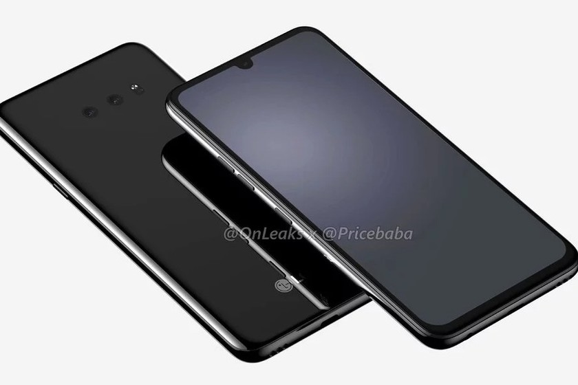 The LG G8X leaks into its more detailed renders, displaying a drop notch and headphone jack