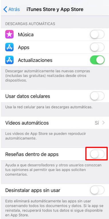 How to disable annoying iPhone in-app ratings 6