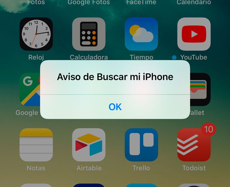 Notice of Find My iPhone