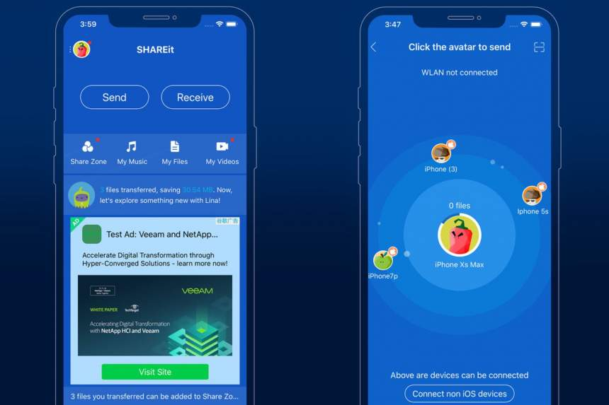 Share files between Android and iPhone, fast and wireless 2