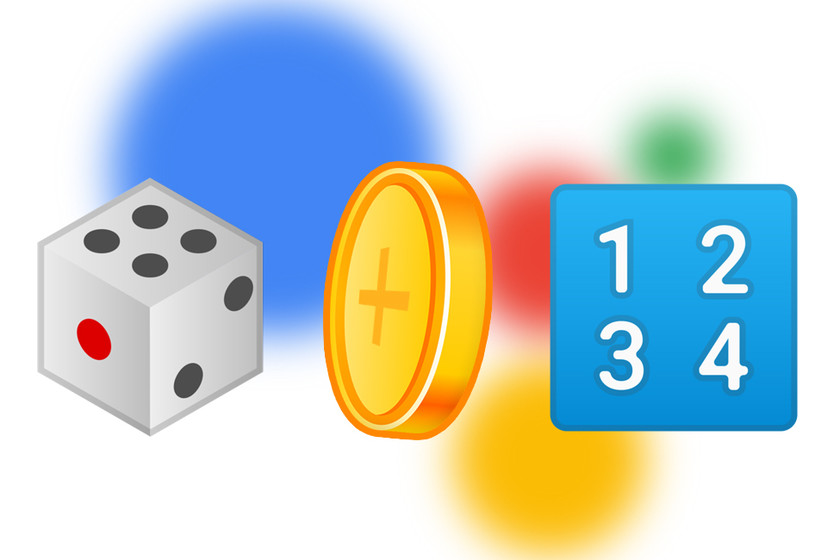 So you can ask the Google Assistant to throw a coin, some dice or tell you a random number