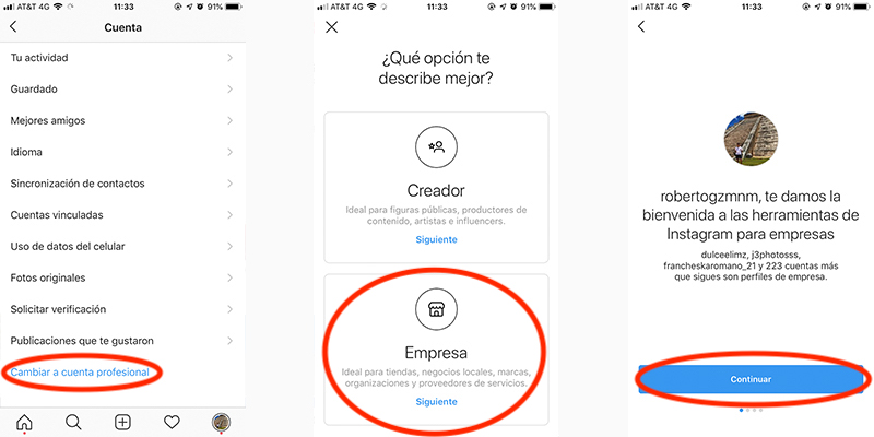 How to open a business account in Instagram? 5