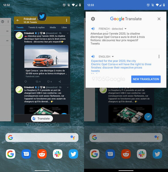 Google Translate will become a system feature in Android Q 2