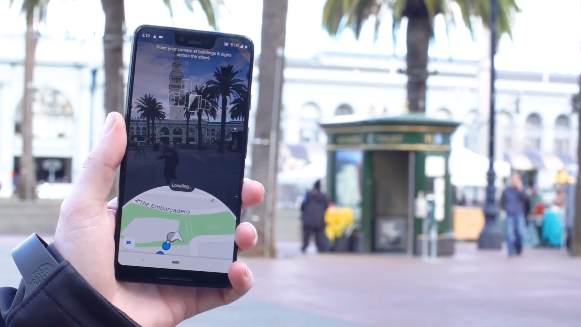 Google Maps must first recognize the environment