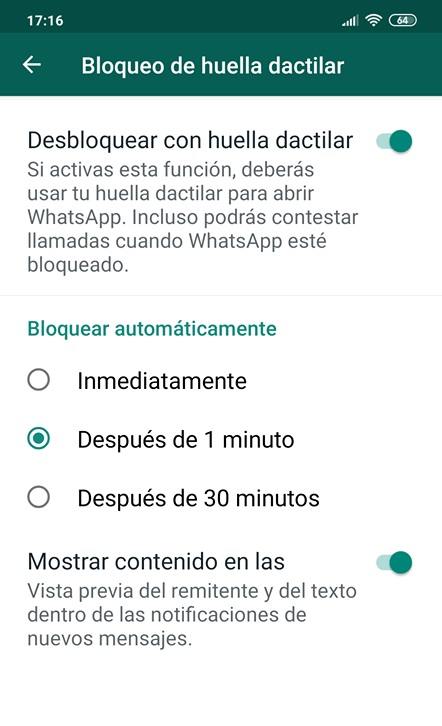 WhatsApp implements fingerprint blocking in its beta for Android 2
