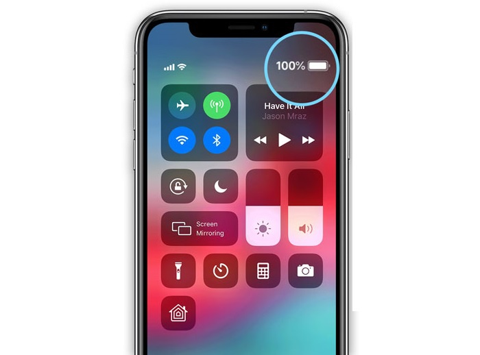 iphone xr battery percentage