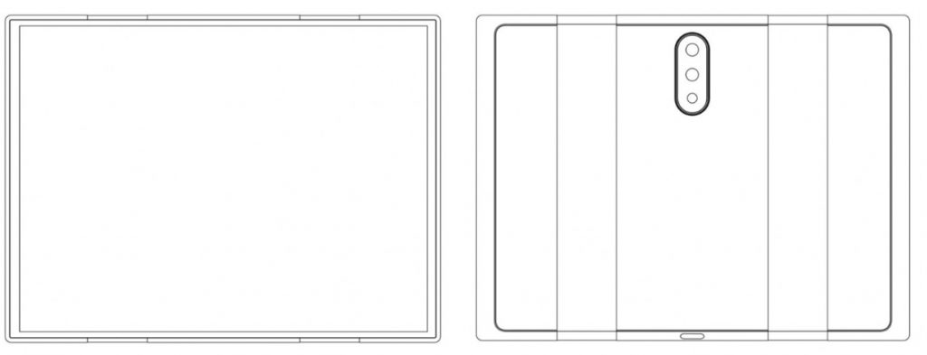 A patent registered by Xiaomi is filtered from a screen for folding smartphones 2