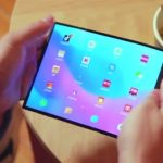 A patent registered by Xiaomi is filtered from a screen for folding smartphones