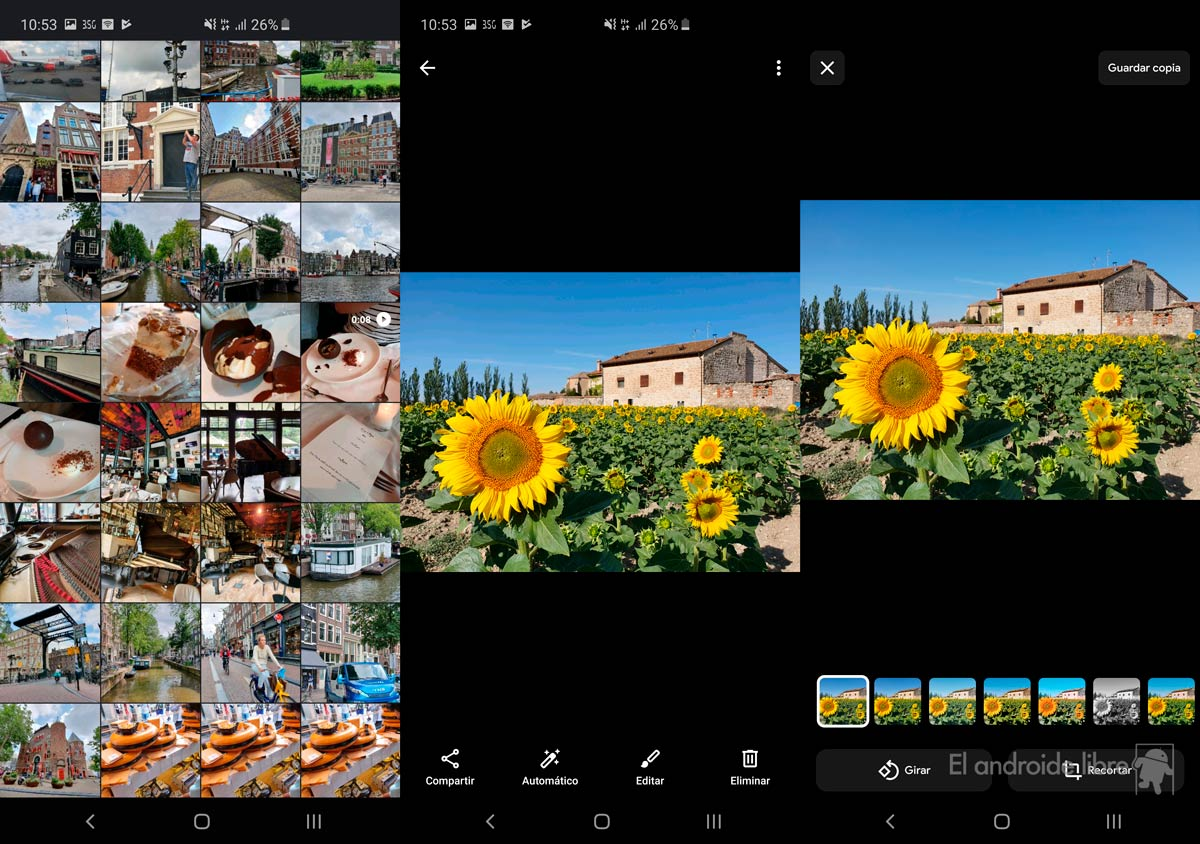 Google's new photo gallery improves with dark mode