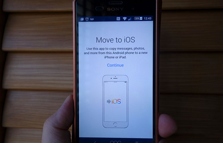 Move to iOS is available for download on Android 5