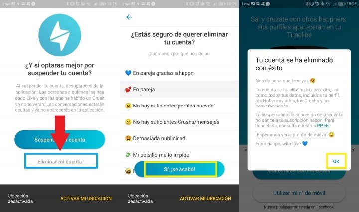 Image - How to delete a Happn account