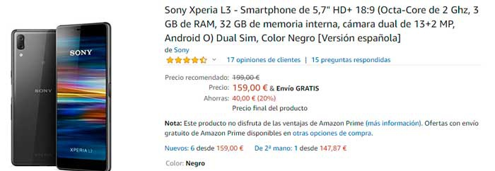 buy the Sony Xperia L3