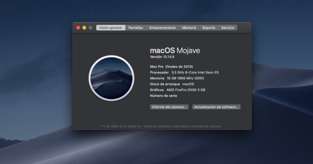 macOS Mojave apps 64 bits