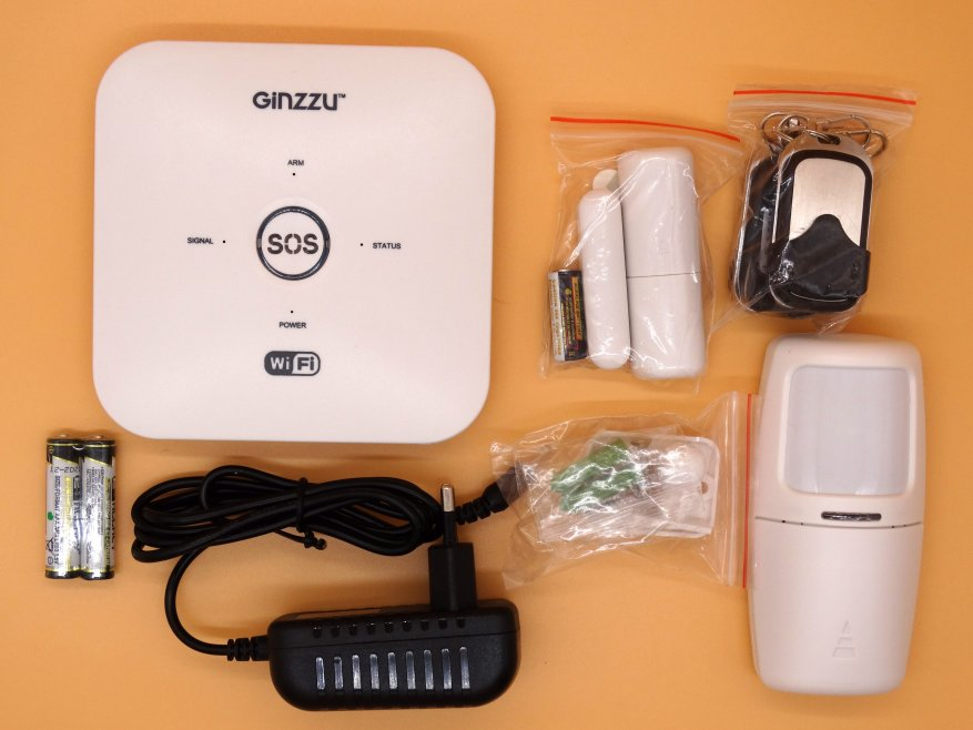 🥇 ▷ Ginzzu HS-K13WL review: entry-level security system with support for  GSM and Wi-Fi » ✅