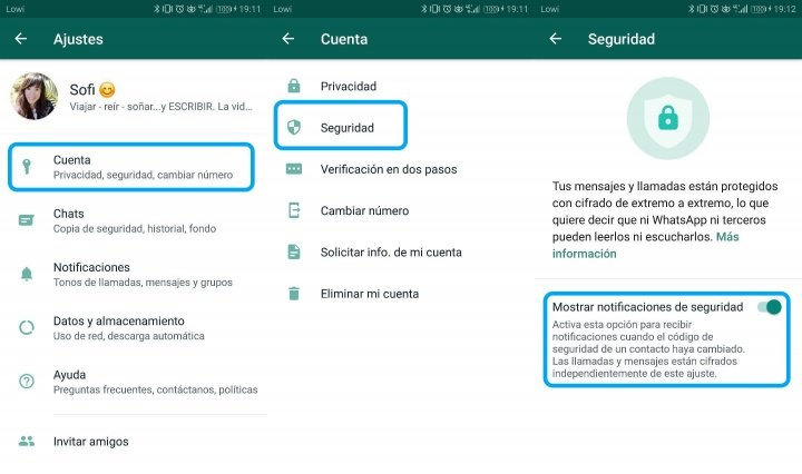 """Image - How to delete the message """"Security code changed"""" by WhatsApp"""