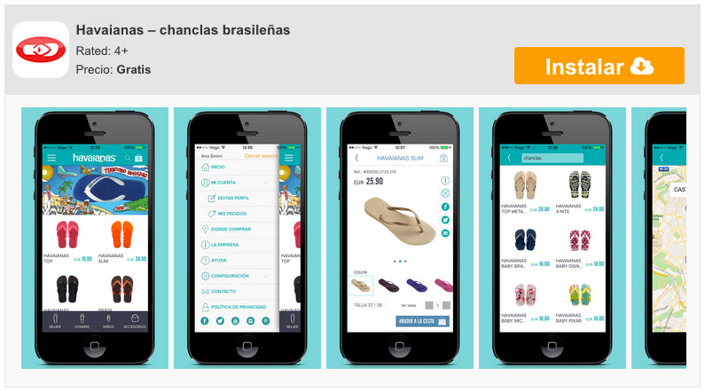 Havaianas, the Brazilian flip flops also on your iPhone 5