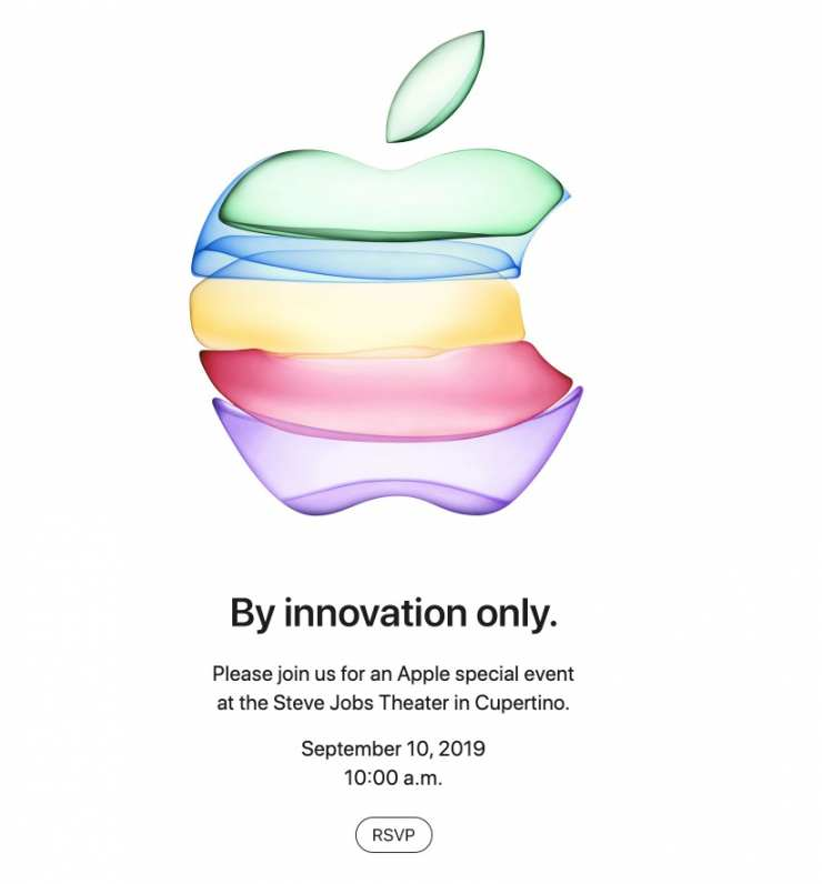 "Apple Send invitations to the September 10 keynote: ""By innovation only"" 3"