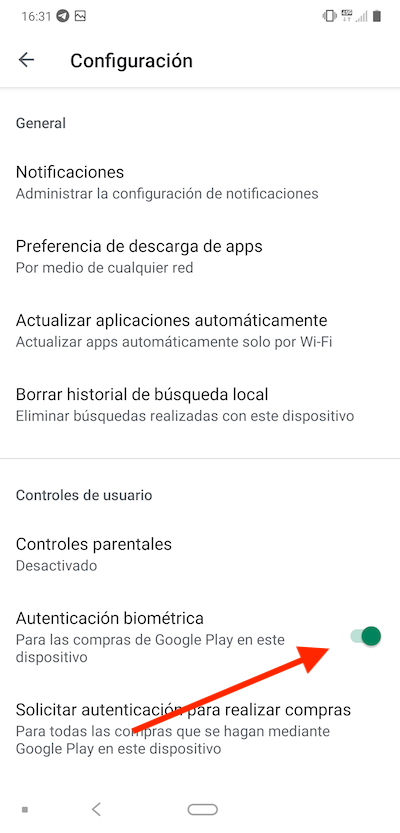 How to activate biometric authentication in Play Store? 6
