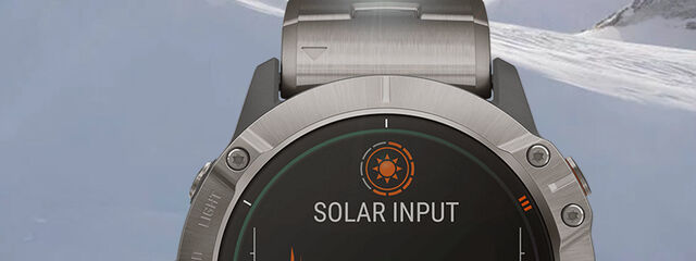The new Garmin watch is recharged with solar energy with a transparent panel
