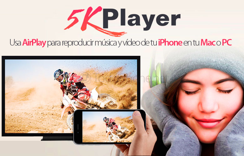 5KPlayer, use AirPlay to play music and video from your iPhone on your Mac or PC 8