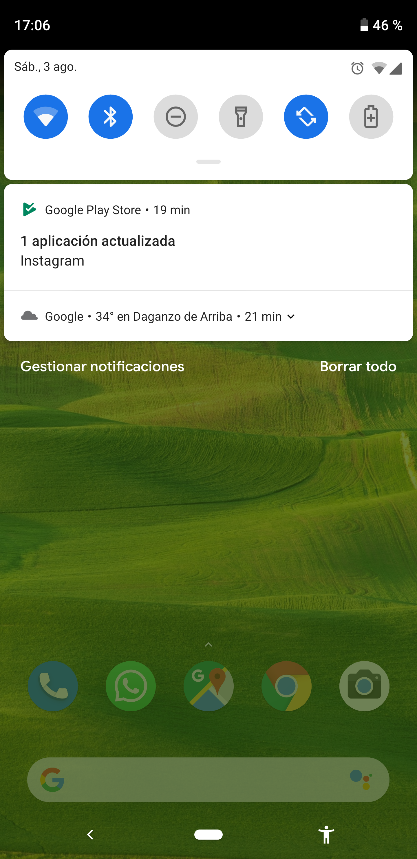 Android phone notification