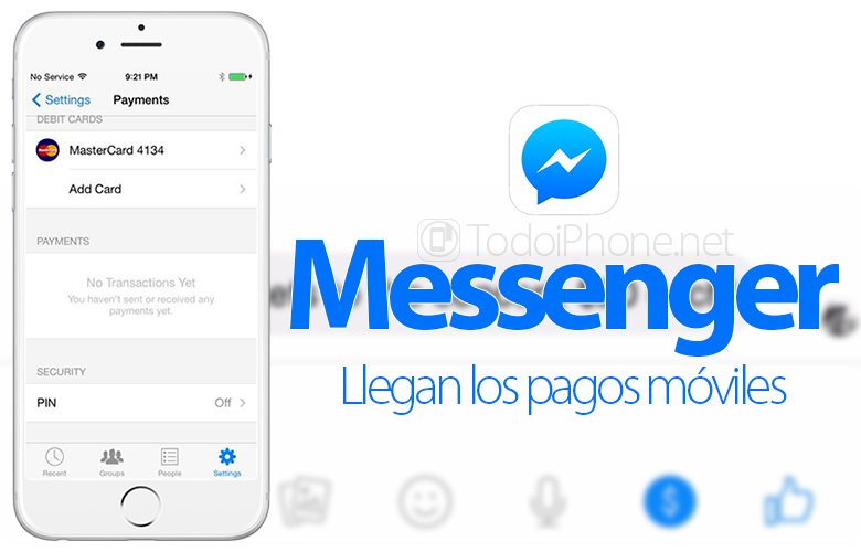 Facebook add payments from iPhone and iPad to Messenger 3