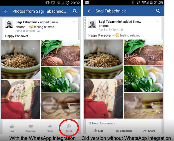 Facebook it starts to integrate with WhatsApp 5