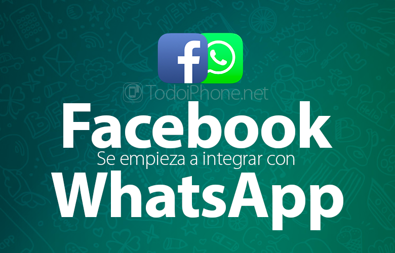 Facebook it starts to integrate with WhatsApp 4