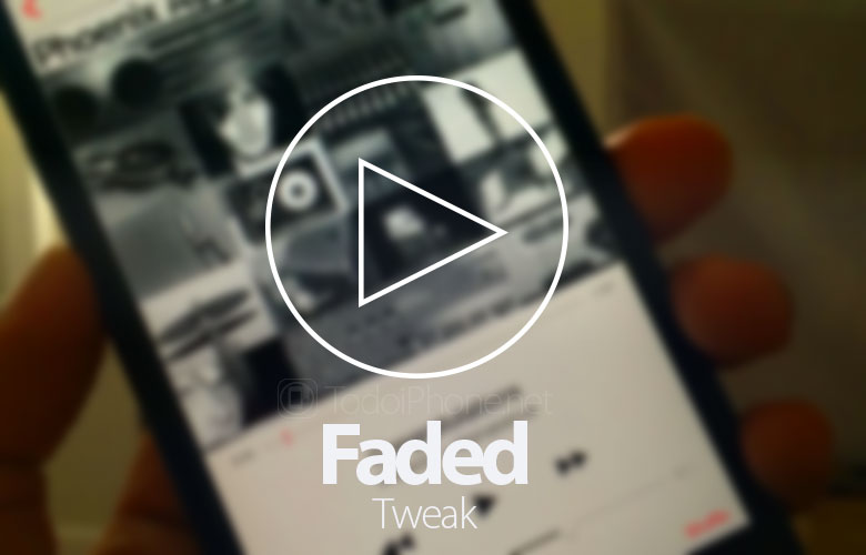 Faded, the tweak that adds a fusion effect to the iOS 8 Music app 2