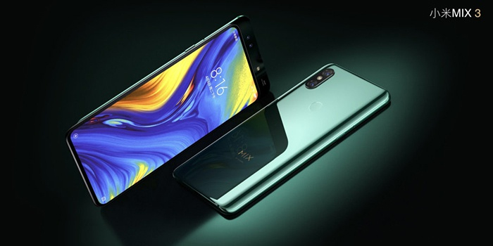 Xiaomi Mi Mix 3 5G, front and rear view