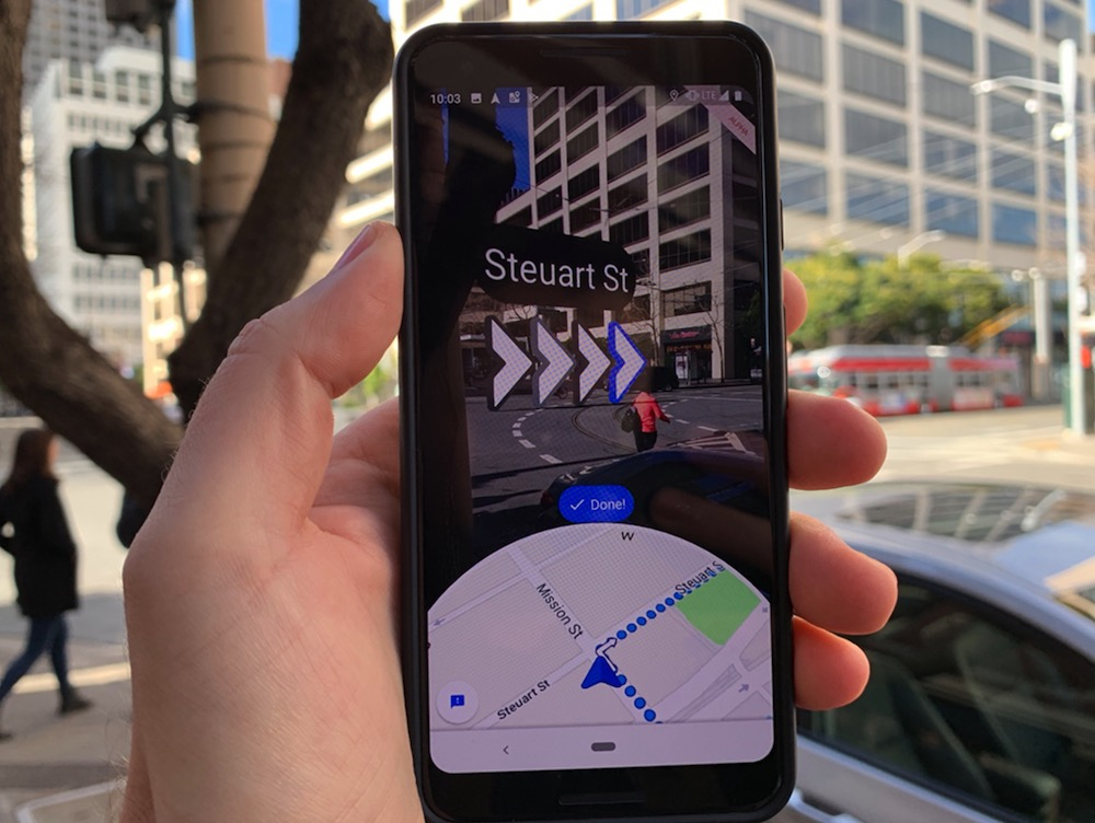 How to use Augmented Reality to navigate Google Maps