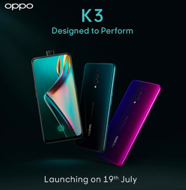 Oppo K3 India Launch Date Officially Announced For 19th July