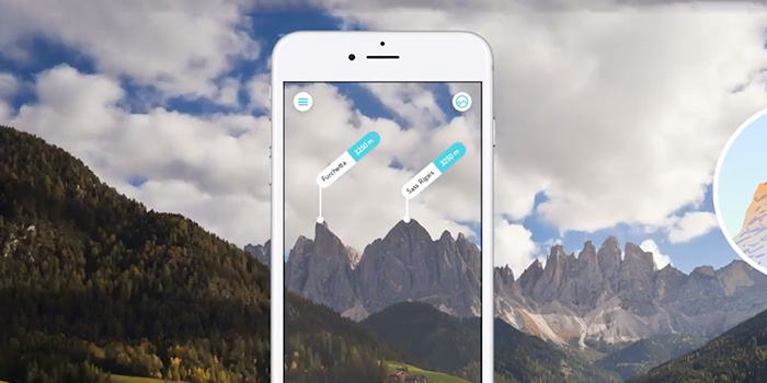 PeakVisor, identify peaks and mountains with your smartphone