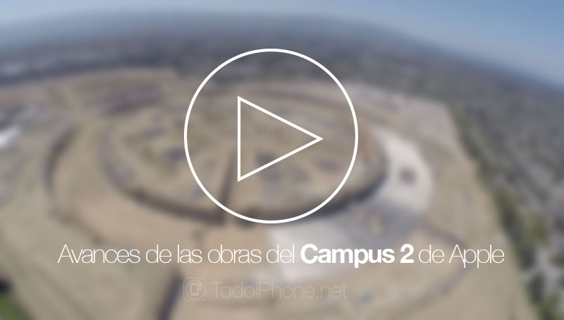 Progress of the works of Campus 2 of Apple Drone view with GoPro camera 3