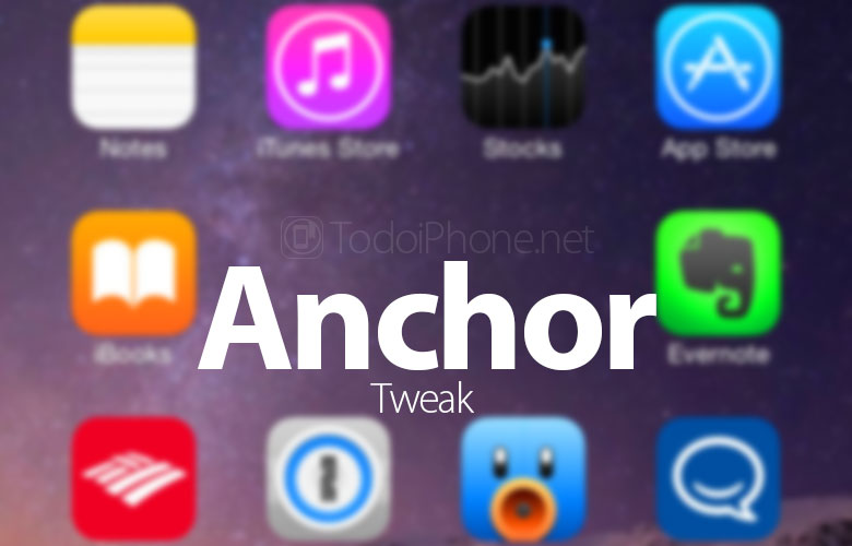 Rearrange iPhone home screen applications with Anchor 2