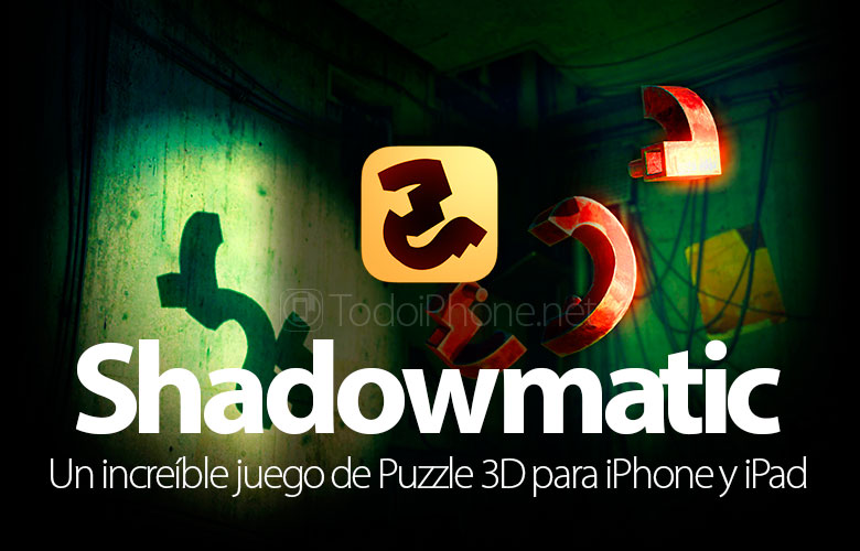 Shadowmatic, an amazing 3D puzzle game for iPhone and iPad 2