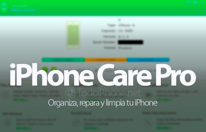 Tenorshare iPhone Care Pro for Mac, organize, repair and clean your iPhone 2