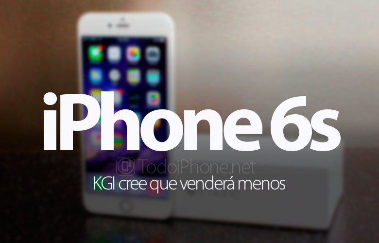 The iPhone 6s will sell little according to KGI 2