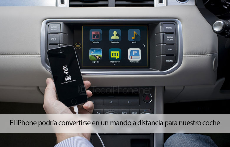 The iPhone could become a remote control for our car 2