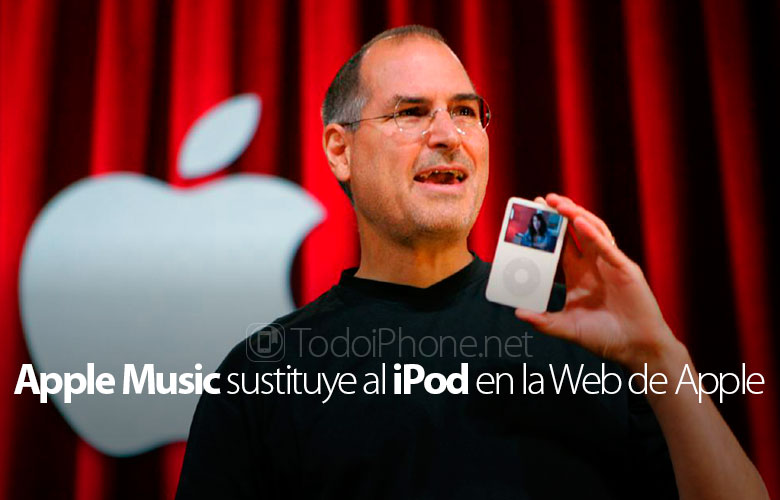 The iPod section of the website of Apple was replaced by music 2
