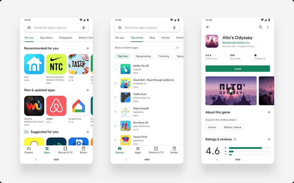 The new Material Design design by Google Play Store finally comes to all