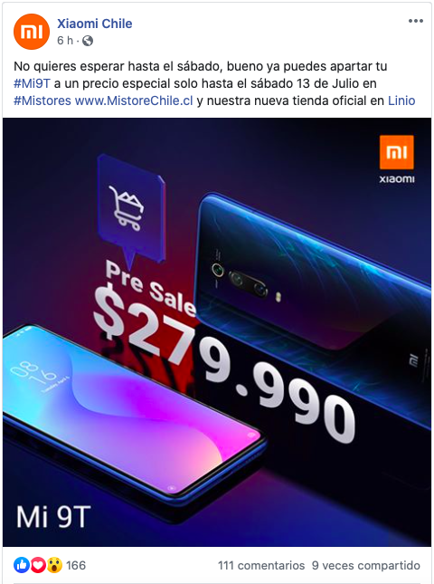 This Saturday, July 13, the Xiaomi Mi 9T arrives in Chile for CLP $ 279,990 2