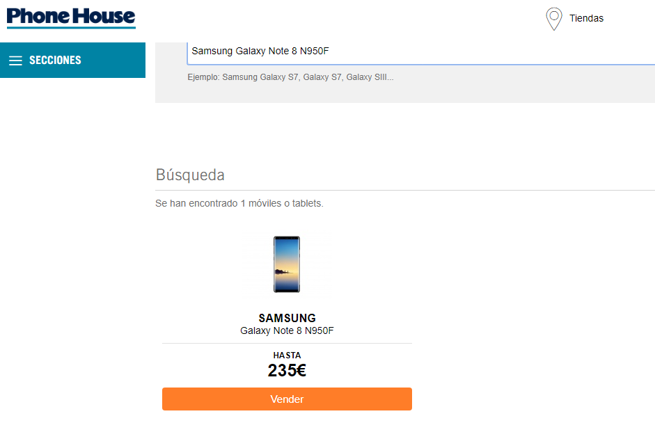 Galaxy Note  8 sale in Phone House