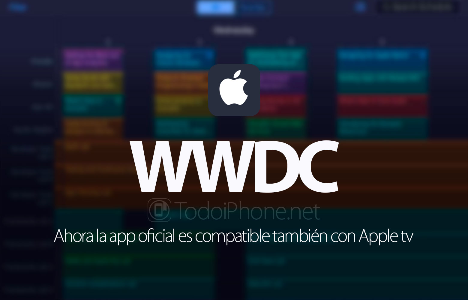 WWDC 2016, the official app now compatible with Apple TV 2